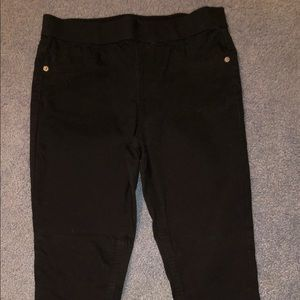 Justice black leggings. Size 14/16